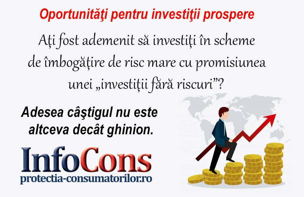Oportunitati pentru investitii prospere