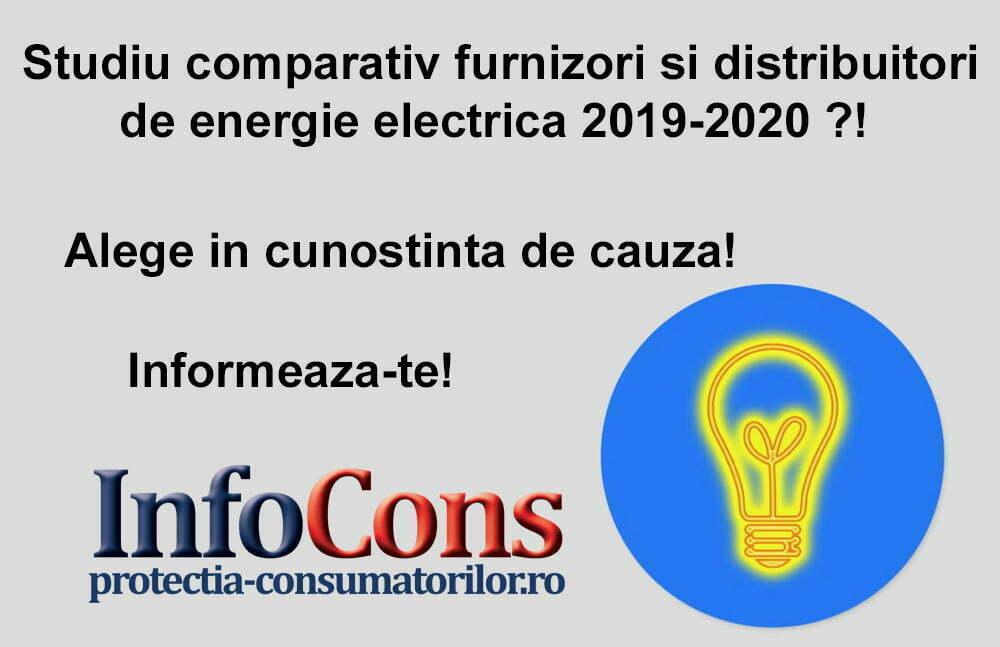 Studiu comparativ furnizori si distribuitori energie electrica 2019-2020 ?! Alege in cunostinta de cauza! Informeaza-te!