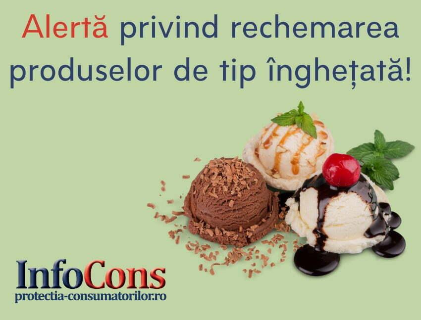 Alertă privind rechemarea produsului de tip înghețată