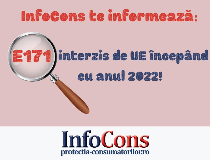 InfoCons te informează: E171- interzis de UE începând cu anul 2022!