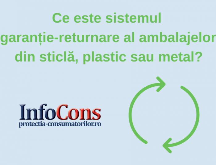 Sistemul garanție-returnare al ambalejelor din sticlă, plastic sau metal