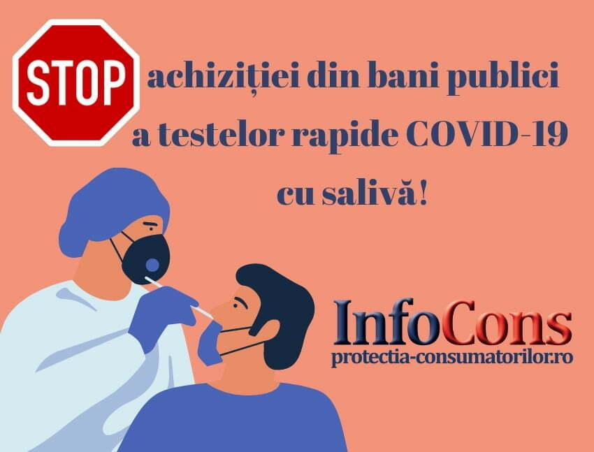 STOP achizitiei din bani publici a testelor COVID-19 rapide antigen non-invazive efectuate din proba de saliva!