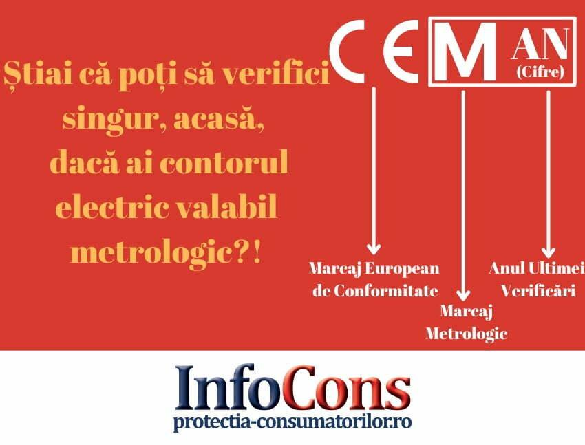 Știai că poți să vezi singur, acasă, dacă ai un contor electric verificat metrologic?!